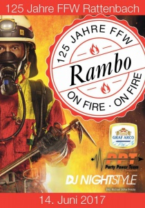 Zeltdisco Rambo on fire | Mi, 14.06.2017 ab 21:00 Uhr
