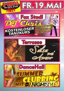 Summer Clubbing und Salsa mi Amor im FUN! | Fr, 19.05.2017 von 21:00 bis 03:30 Uhr