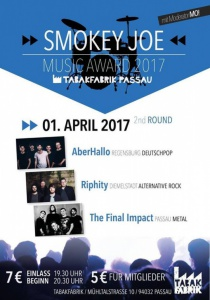 Smokey Joe Band Contest 2017 :: 2nd Round   Sa, 01.04.2017 ab 19:30 Uhr