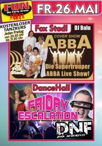 Die Supertrouper ABBA Live Show im FUN!   Fr, 26.05.2017 von 21:00 bis 03:30 Uhr