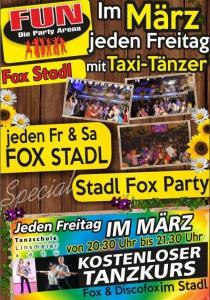 Tanzkurs und Stadl Fox-Party im FUN! | Fr, 17.03.2017 von 20:30 bis 03:30 Uhr