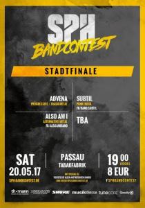 SPH Bandcontest Stadtfinale // Passau | Sa, 20.05.2017 ab 19:00 Uhr
