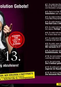 FREITAG DER 13. - Die 13 Revolution Gebote! | Fr, 13.10.2017