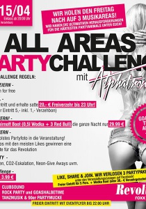 ALL AREAS #PARTY CHALLENGE by Alphatronic | Sa, 15.04.2017