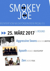 Smokey Joe Band Contest 2017 :: 1st Round | Sa, 25.03.2017 ab 19:30 Uhr