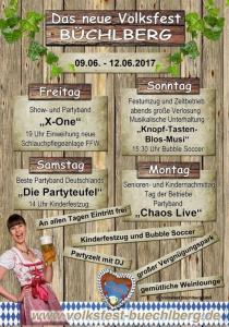 Volksfest Büchlberg 2017 | Fr, 09.06.2017 - Mo, 12.06.2017